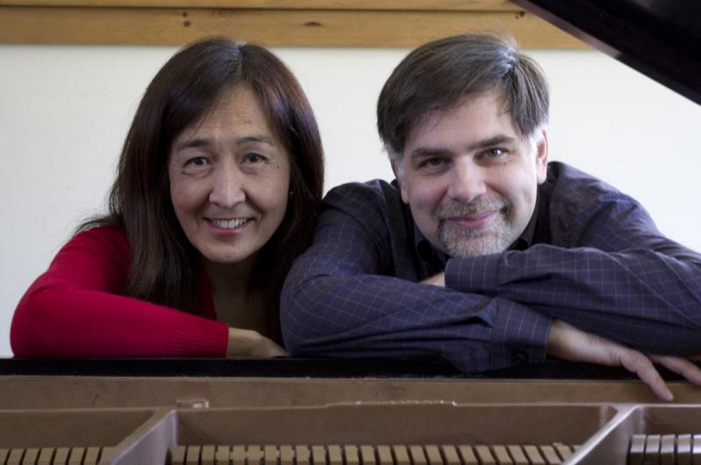 Yuri Funahashi, left, and Stephen Paine will perform at a Maine Mountain Chamber Music concert is set for 7:30 p.m. Saturday, Oct. 7, at Nordica Auditorium at the University of Maine at Farmington.