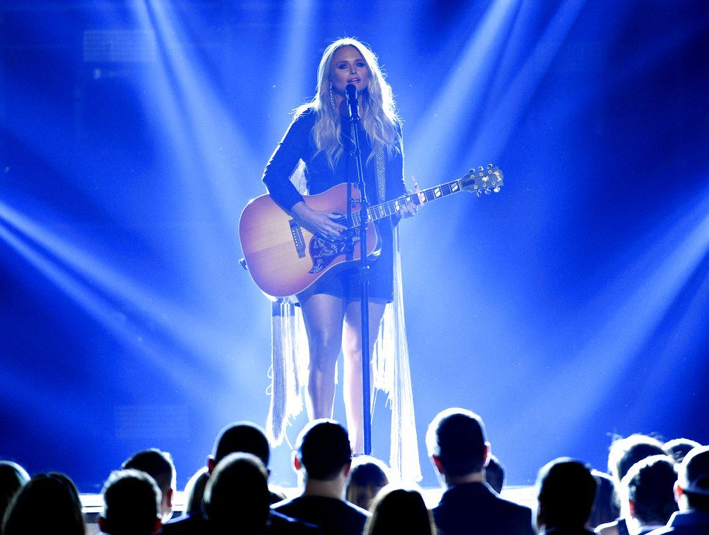 "Miranda Lambert performs ""Tin Man"" at the 52nd annual Academy of Country Music Awards at the T-Mobile Arena in Las Vegas. Lambert leads her peers with five Country Music Association nominations.   Photo by Chris Pizzello/Invision/AP, File"