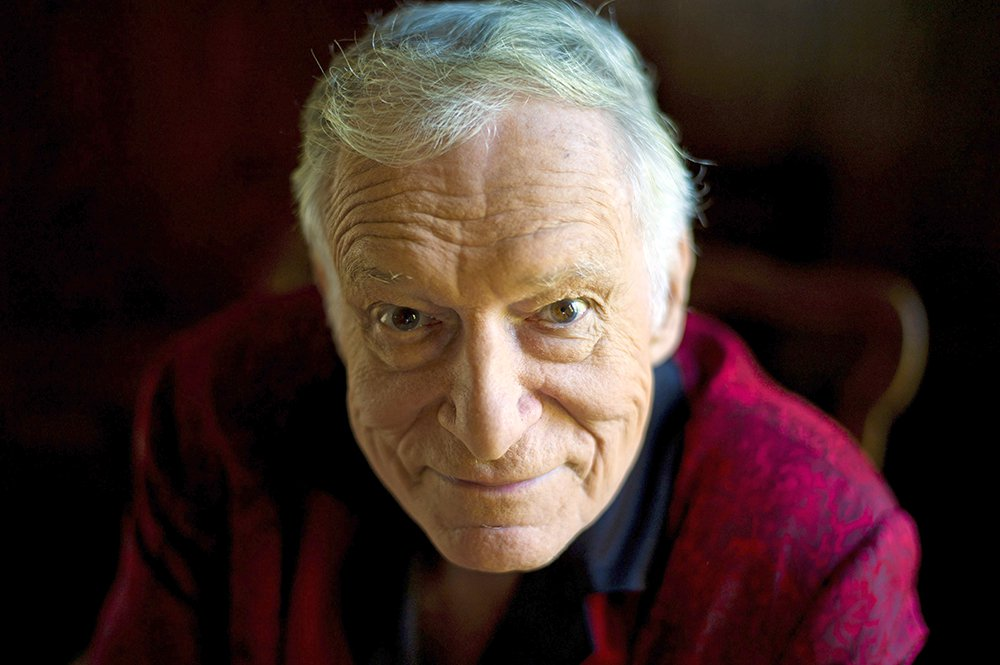 Hugh Hefner at his home at the Playboy Mansion in Beverly Hills, Calif., in a 2011 photo. He died at his home of natural causes on Wednesday night surrounded by his family.