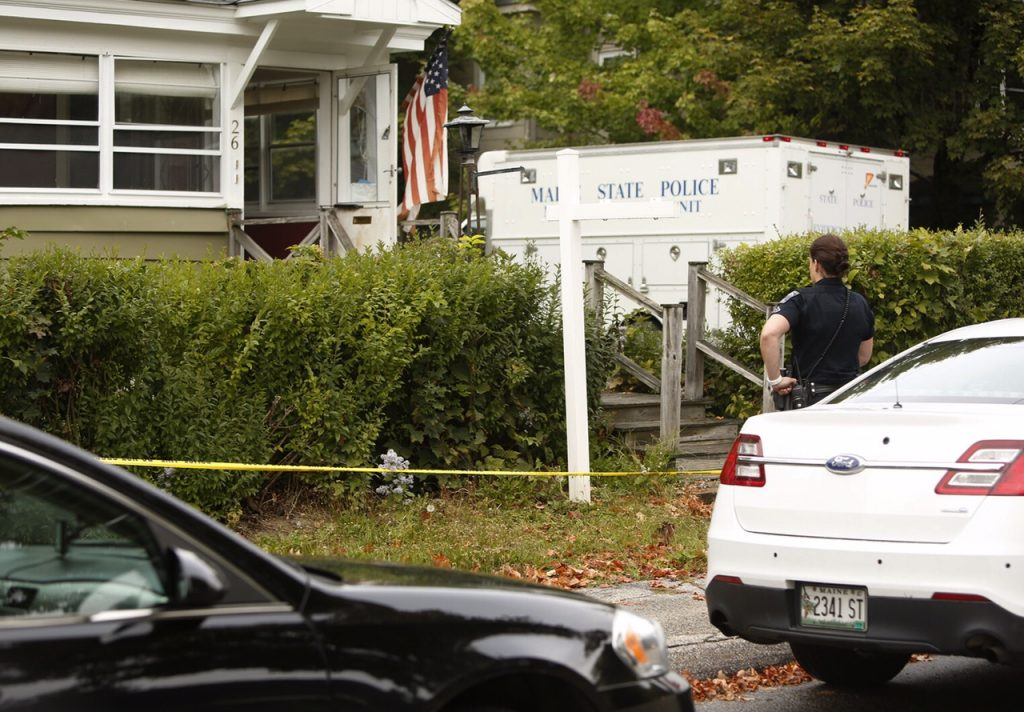 Police are on the scene at 26 Nye St. in Saco where a man was shot early Saturday.