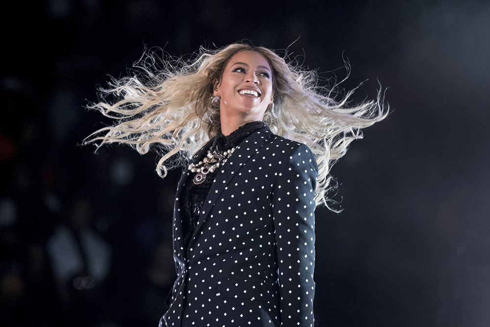 Beyonce performs at a Get Out the Vote concert for Democratic presidential candidate Hillary Clinton in Cleveland on Nov. 4, 2016.