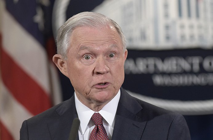 Attorney General Jeff Sessions announces the termination of the  Deferred Action for Childhood Arrivals, or DACA program, at the Justice Department in Washington on Tuesday.