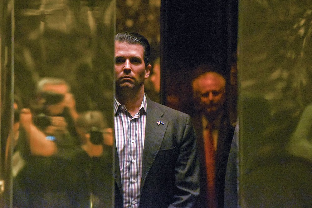 Donald Trump Jr. arrives at Trump Tower in New York City in January.