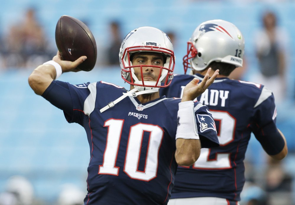 A report indicates Patriots quarterback Jimmy Garoppolo will be traded to San Francisco.