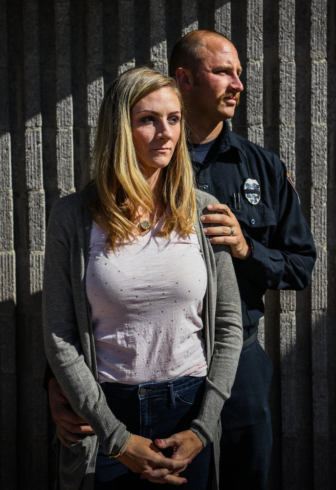Travis Haldeman and his wife, Haley Haldeman, were among the crowd at the concert in Las Vegas when a gunman opened fire last Sunday night. The off-duty firefighter stayed behind to help the wounded in the audience.