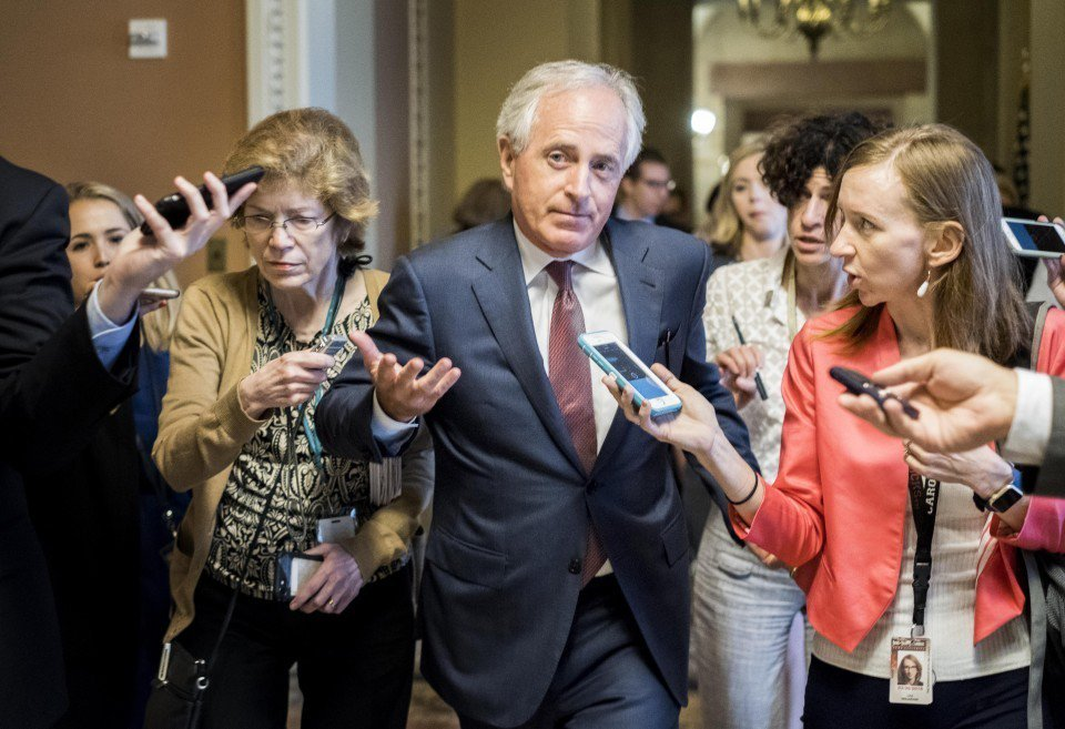 "Sen. Bob Corker, R-Tenn., said Sunday ""the White House has become an adult day care center."""