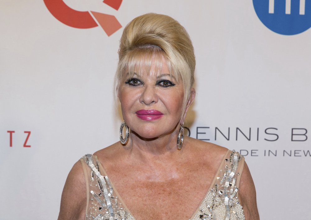"Ivana Trump, ex-wife of President Trump, shown in May, referred to herself as ""first lady"" on ABC's ""Good Morning America"" on Monday. ""I'm basically first Trump wife. Okay?"""