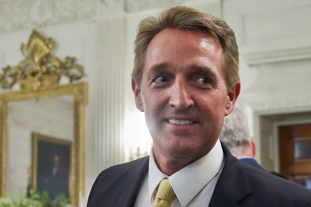 U.S. Sen. Jeff Flake, R-Ariz., a frequent critic of President Trump, announced Tuesday that he won't seek re-election.