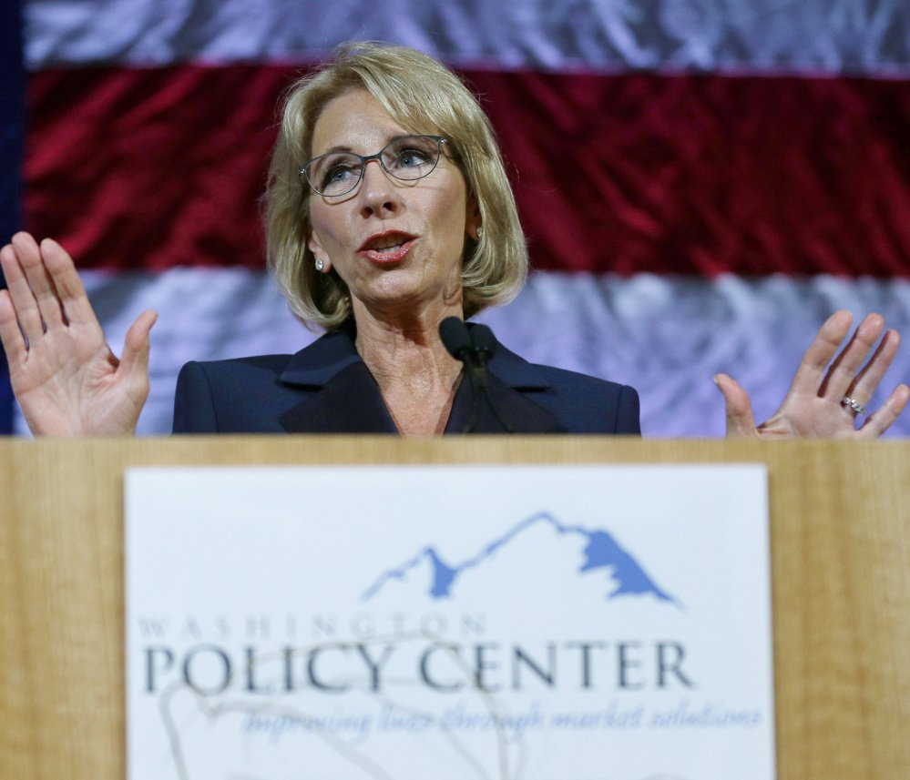 Education Secretary Betsy DeVos is reported to be working on a plan that would grant students defrauded by for-profit colleges only partial debt relief.