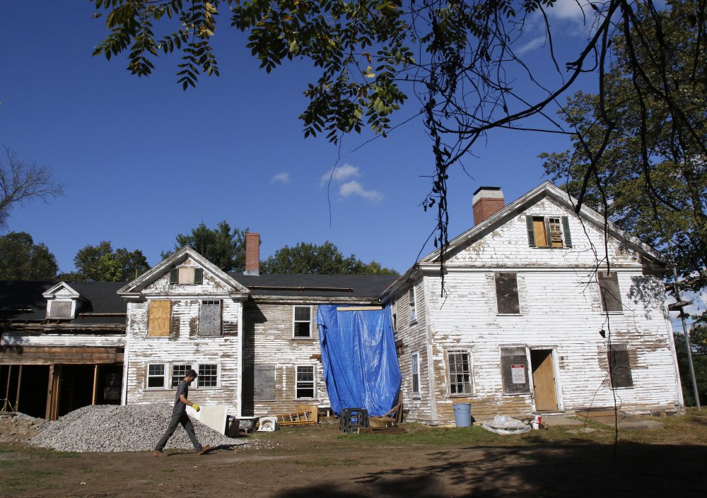 The 17th-century homestead where Sarah Clayes lived in Framingham, Mass., is being restored. Clayes, who was accused of witchcraft in the Salem witch trials of 1692, managed to survive and moved here in 1693. The original structure is gone; this one was built in 1776.
