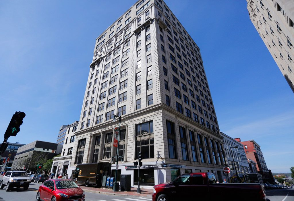 The Time & Temperature Building is headed for the auction block after years of neglect and a foreclosure.