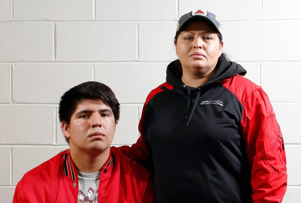 Amelia Tuplin, who is the mother of Lucas Francis, quarterback for Lisbon High School, says Wells fans and players mocked Native Americans with offensive stereotypes throughout Friday's game at Wells High School. Tuplin and Francis are Micmac.