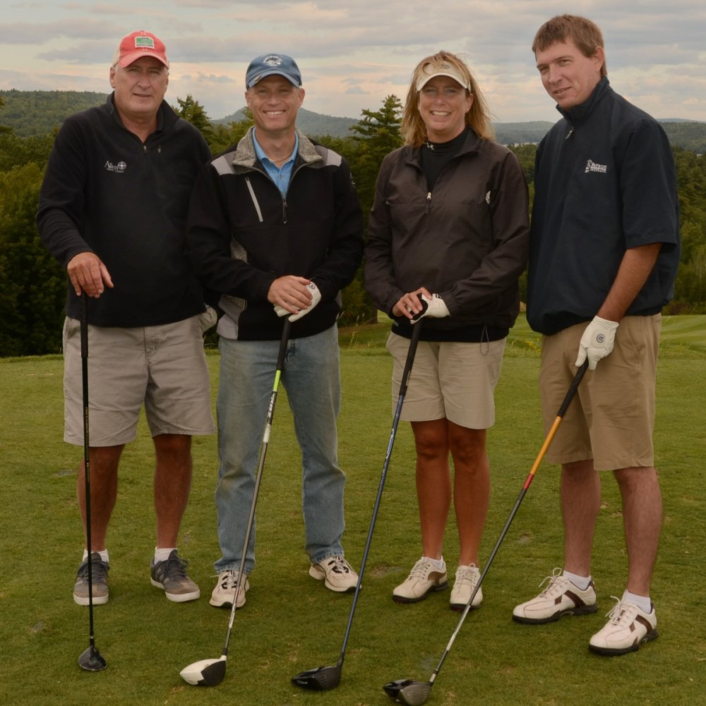 First Place Net Award was presented to GHM Insurance/Allen Insurance & Financial at this year's Big Brothers Big Sisters of Mid-Maine Golf Fore Kids' Sake at Belgrade Lakes. From left are Dan Wyman, Brian Beaulieu (Allen Agency) Laura Rowe and James Sanborn.