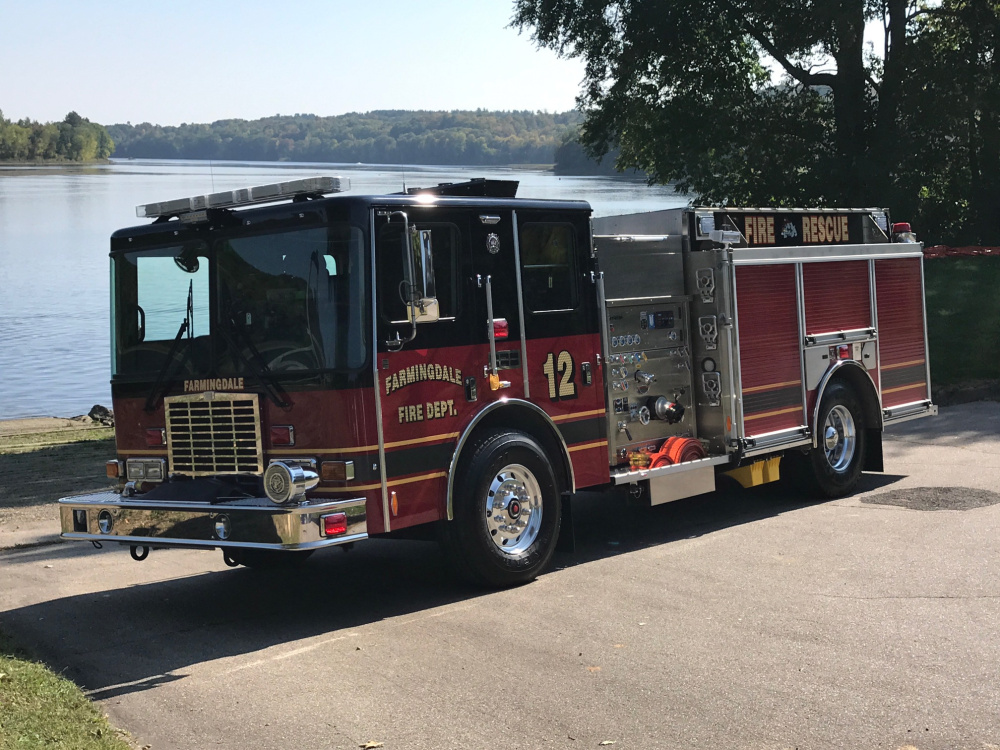 Farmingdale recently took possession of a new $300,000 firetruck and the town is looking to build a new fire station.