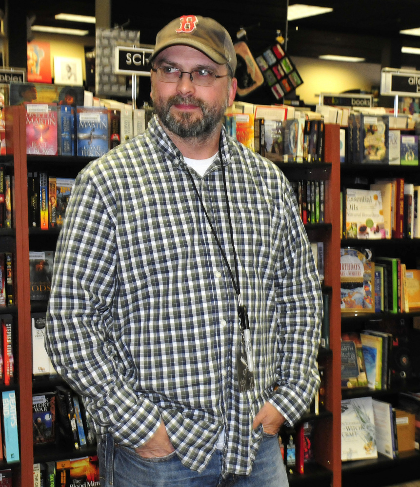 Todd Maheu, speaking Tuesday at the Bull Moose Music store in Waterville, talks about rock star Tom Petty's death.