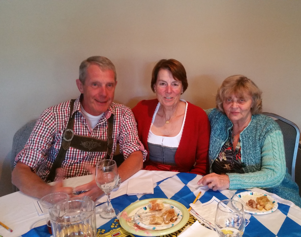 The judges for the annual Rangeley Oktoberfest Brat & Strudel Contest were, from left, Hans Stretz, Gerlinde Stretz and Klara Haines.