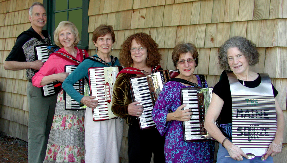 "The Maine Squeeze, an accordion ensemble, will present ""Celebrating OktoberFest"" at 7:30 p.m. Saturday, Oct. 21, in Nordica Auditorium in Merrill Hall on the University of Maine at Farmington campus. The event is sponsored by ArtsFarmington, a UMF affiliate."