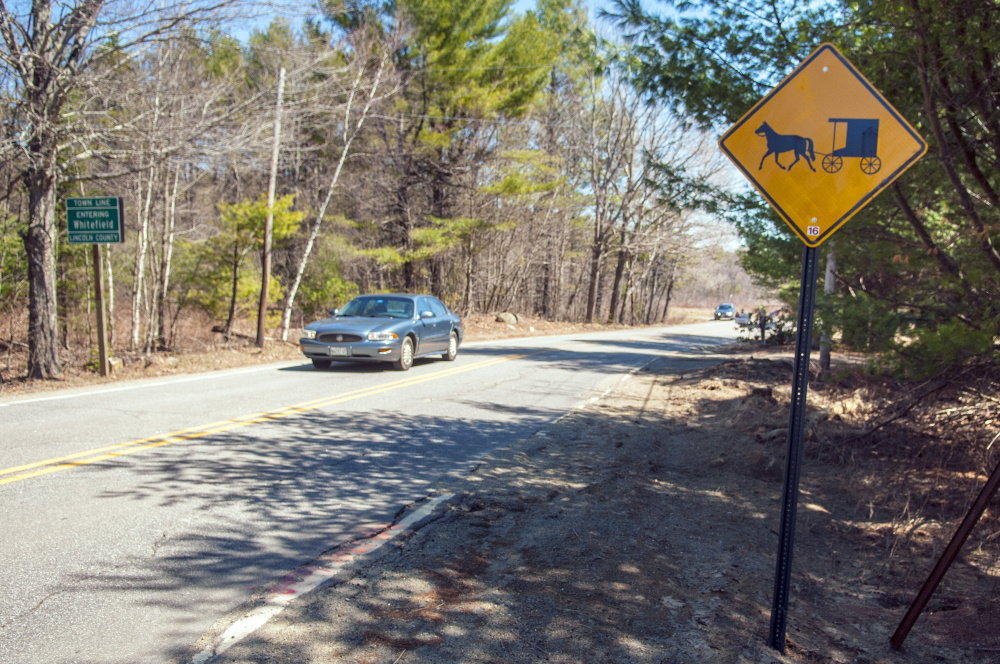 The town of Whitefield has put up signs to warn drivers about Amish buggies on local roads, but selectmen are wondering if more needs to be done after two recent accidents.
