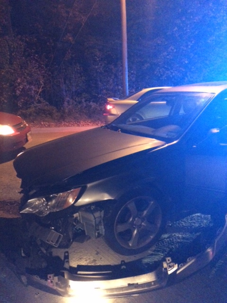 A car that veered into oncoming traffic on the Mercer Road caused mayhem for several others.