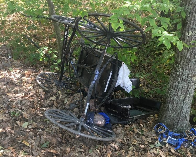 A sport utility vehicle hit an Amish buggy Oct. 4 in Whitefield, prompting town officials to discuss possible additional safety measures on town roads.