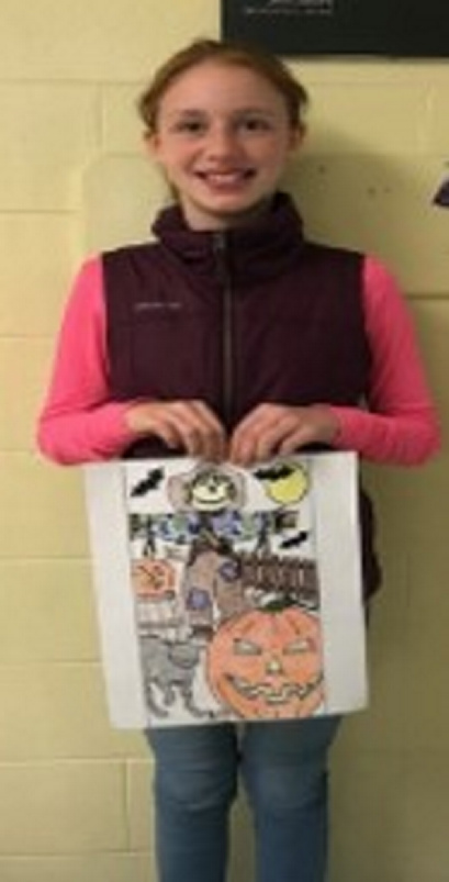 Brynn Barron, of Belgrade, won the Harvest Festival coloring contest for children ages 9-12.