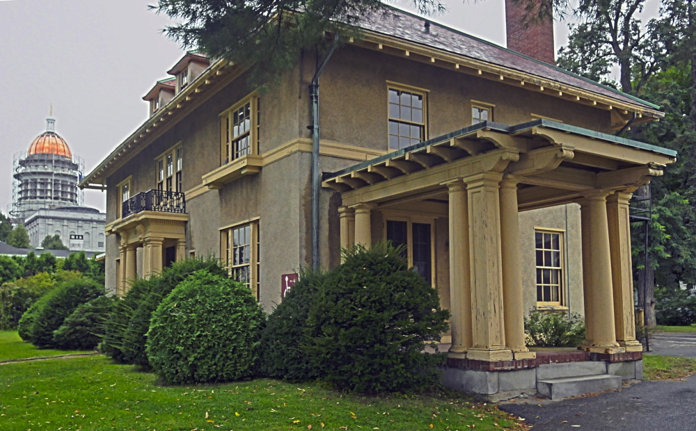 The Gannett House, shown here in 2014, recently received a grant to help pay for the restoration of the original ironwork grills and railings at the historic property.