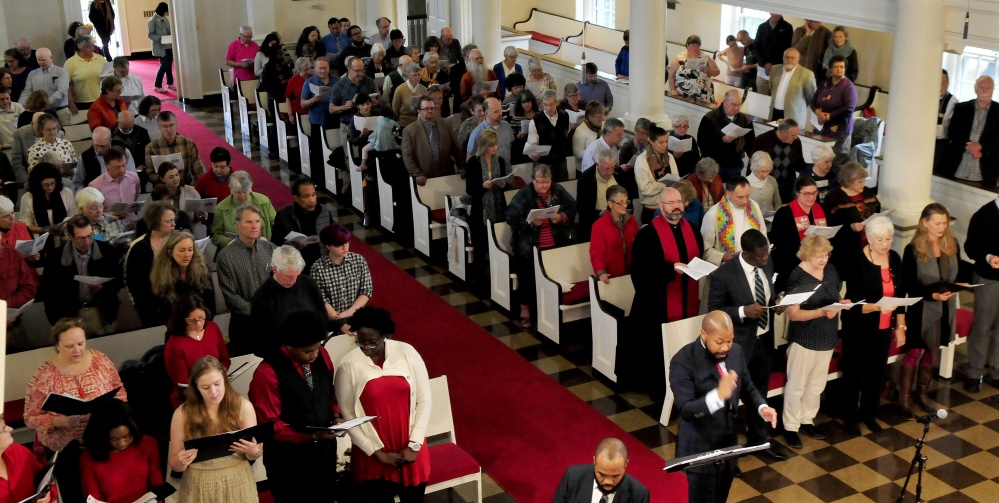 People of all denominations filled  Lorimer Chapel at Colby College in Waterville for the Ecumenical Gospel Celebration of the 500th anniversary of the Reformation on Sunday.