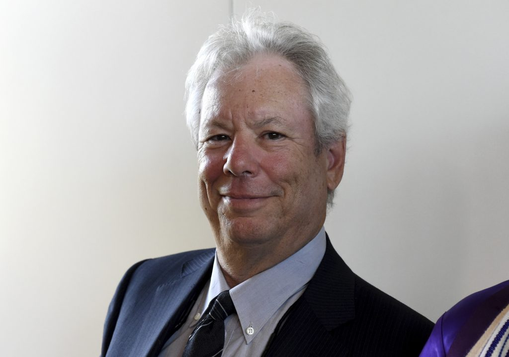 Economist Richard Thaler appears at an award ceremony for the world economy prize in Kiel, Germany, in 2014.