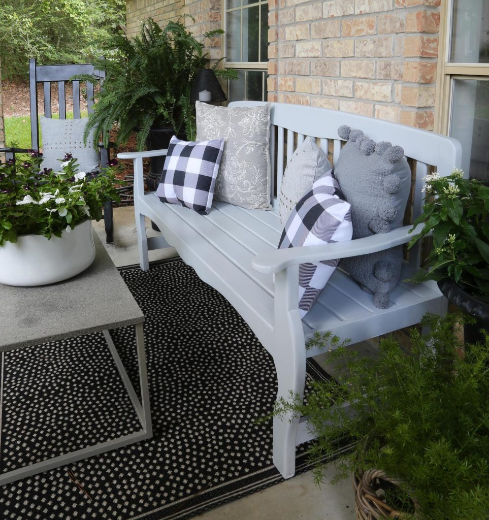 Painted porch furniture adds instant appeal.
