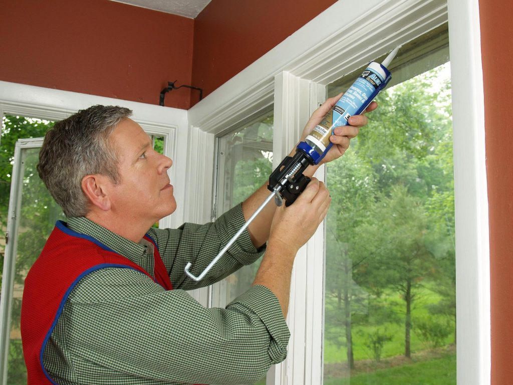 Sealing with caulk reduces air leaks that make your furnace work harder.
