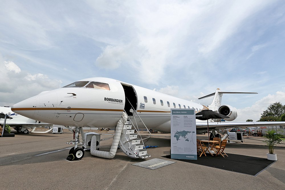 A Bombardier Global 6000 business jet on display at the Singapore Airshow in Singapore. With bargains aplenty on machines with few flight hours, manufacturers are cutting deals to entice buyers to purchase new planes.