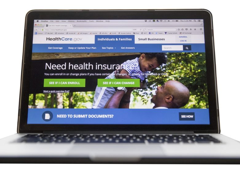 Starting Wednesday through Dec. 15, Americans can sign up for health care coverage on the HealthCare.gov website, shown above. The Trump administration cut the enrollment period for 2018 by half.