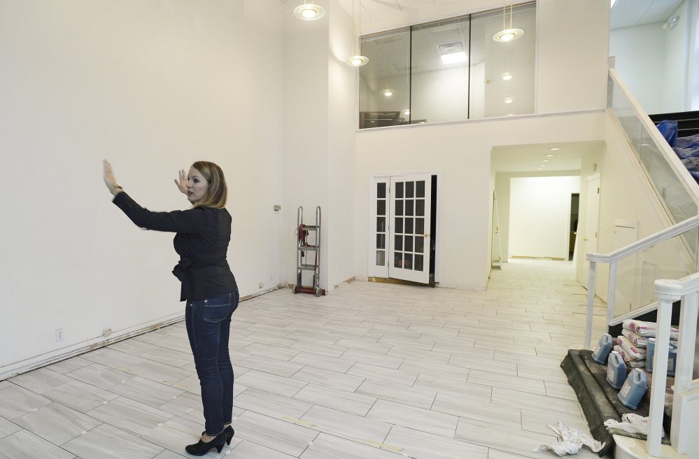Heather Ashby, founder of CoworkHERS, is converting part of the building at 411 and 415 Congress St. into a space that will feature offices, lounge areas, meeting rooms, a library, lockers and a fitness room.