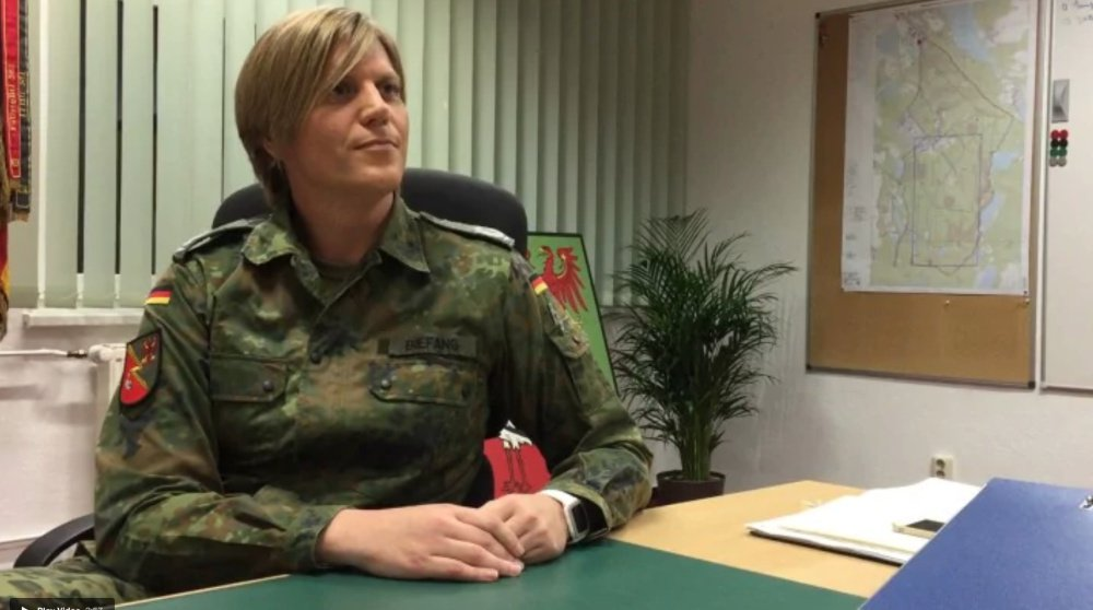 Anastasia Biefang joined the German army as a man, but came out to her superiors two years ago.