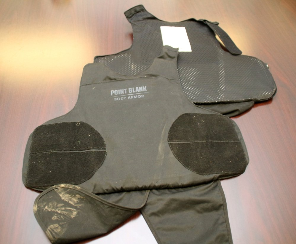 Travis Green wore this body armor while opening fire at a retail store in Cheektowaga, N.Y., on Wednesday, police say.