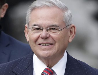 U.S. Sen. Bob Menendez, D-New Jersey, leaves Martin Luther King Jr. Federal Courthouse on Thursday in Newark, New Jersey, where the jury in his bribery trial deadlocked.