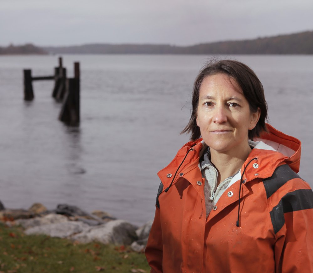 Pictured in Bath, Susie Arnold, a marine scientist at the Rockland-based Island Institute, is one of the leaders of the Maine Ocean and Coastal Acidification Partnership, a volunteer effort.