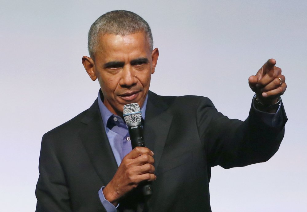 Former President Barack Obama is following in the tradition of his predecessors by embarking on a world tour. Associated Press/Charles Rex Arbogast
