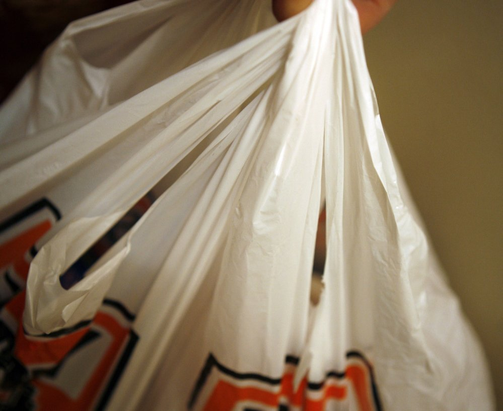 Customers of food businesses in Cape Elizabeth will pay 5 cents for each single-use carry-out bag they get, starting Dec. 6.