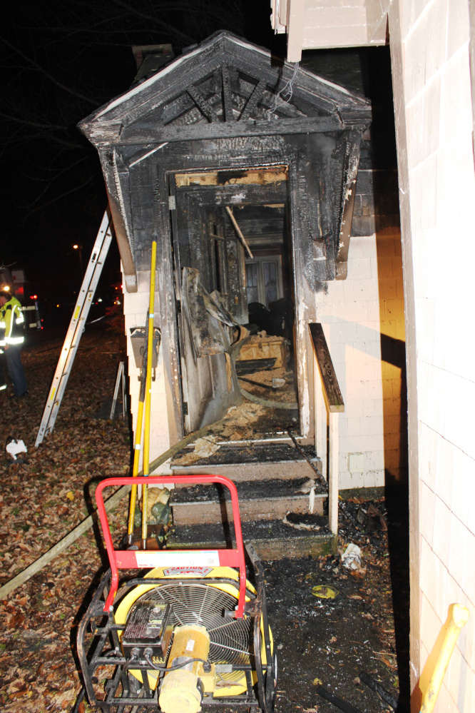 Short-circuited electrical wiring caused a fire at a home in Waterville owned by Assistance Plus, a social service and medical agency. The sole resident was alerted by smoke detectors and escaped the building.