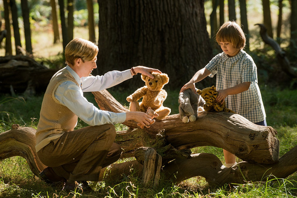 "Courtesy photo   Domhnall Gleeson as Alan Milne, left, and Will Tilston as Christopher Robin in ""Goodbye Christopher Robin."""