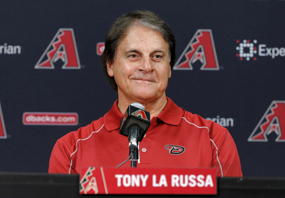 The Boston Red Sox have hired Tony La Russa to serve as a vice president and special assistant on its baseball operations staff Thursday. He served the past four seasons as the Arizona Diamondbacks chief baseball analyst, advising Arizona's baseball operations department.