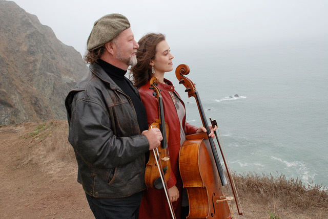 Alasdair Fraser, left, and Natalie Haas.