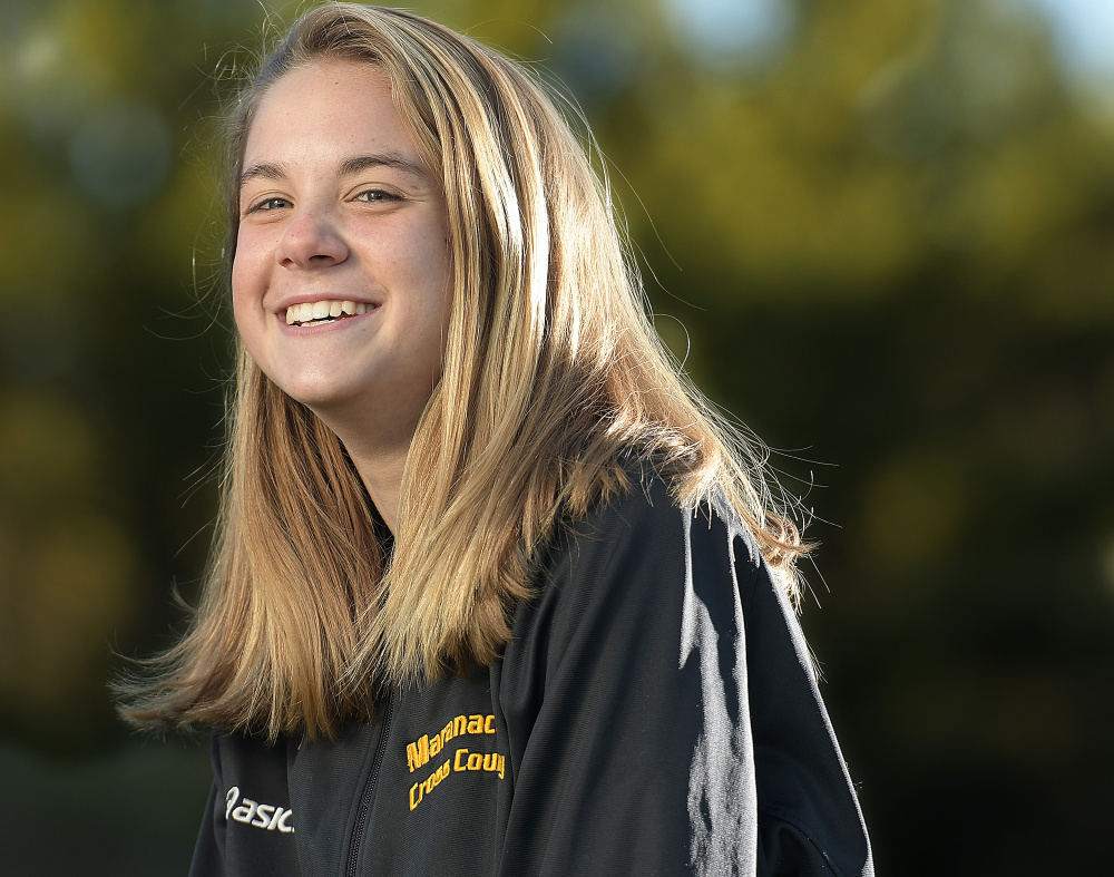 Maranacook Community High School's Molly McGrail is the Kennebec Journal Girls Cross Country Runner of the Year