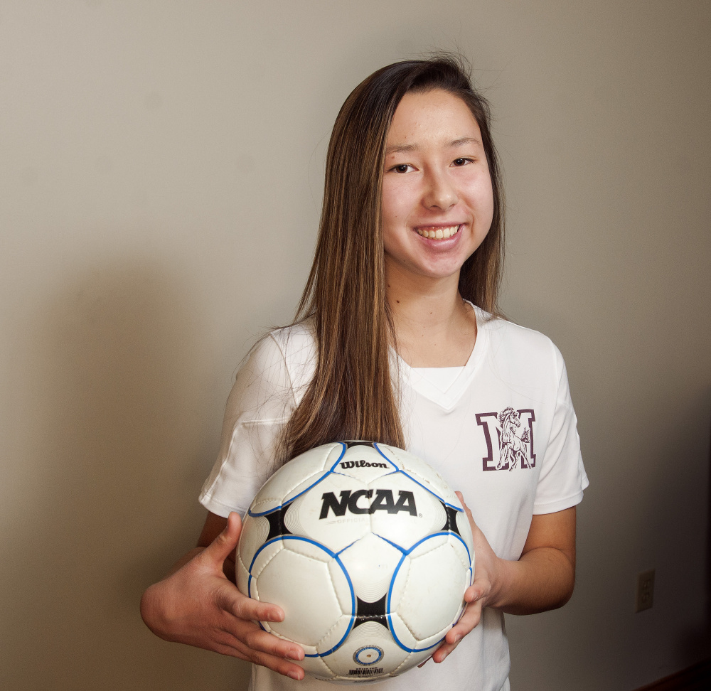 Monmouth Academy's Mia Day is the Kennebec Journal Girls Soccer Player of the Year.