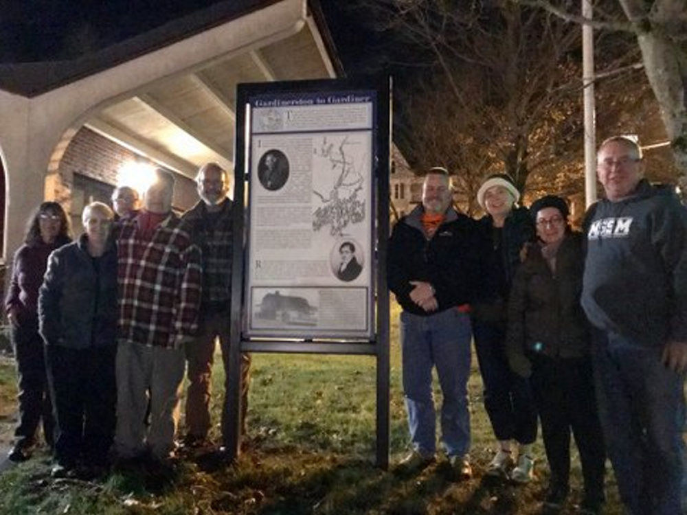 "The cast of ""Tilbury Town Chronicles … A Random Meander Through Gardiner's Past,"" from left, are Rita Moran, Ginger Smith, Jay Barnett, Richard Bostwick, Andy Tolman, Arthur Bourget, Connie LaFlamme, Cindy Turcotte and Bob Giroux."