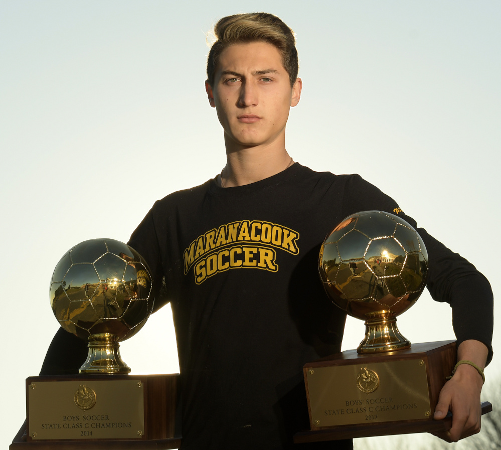 Maranacook's Jackson McPhedran is the Kennebec Journal Boys Soccer Player of the Year.