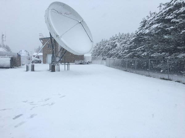 Caribou, shown with snow on May 16, 2016, is the first Maine community to get snow this winter.