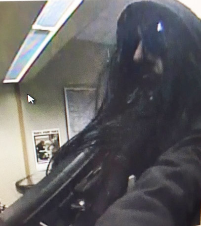 Portland police released this photo Friday night showing the man who robbed the KeyBank branch at 85 Auburn St. around 2 p.m.