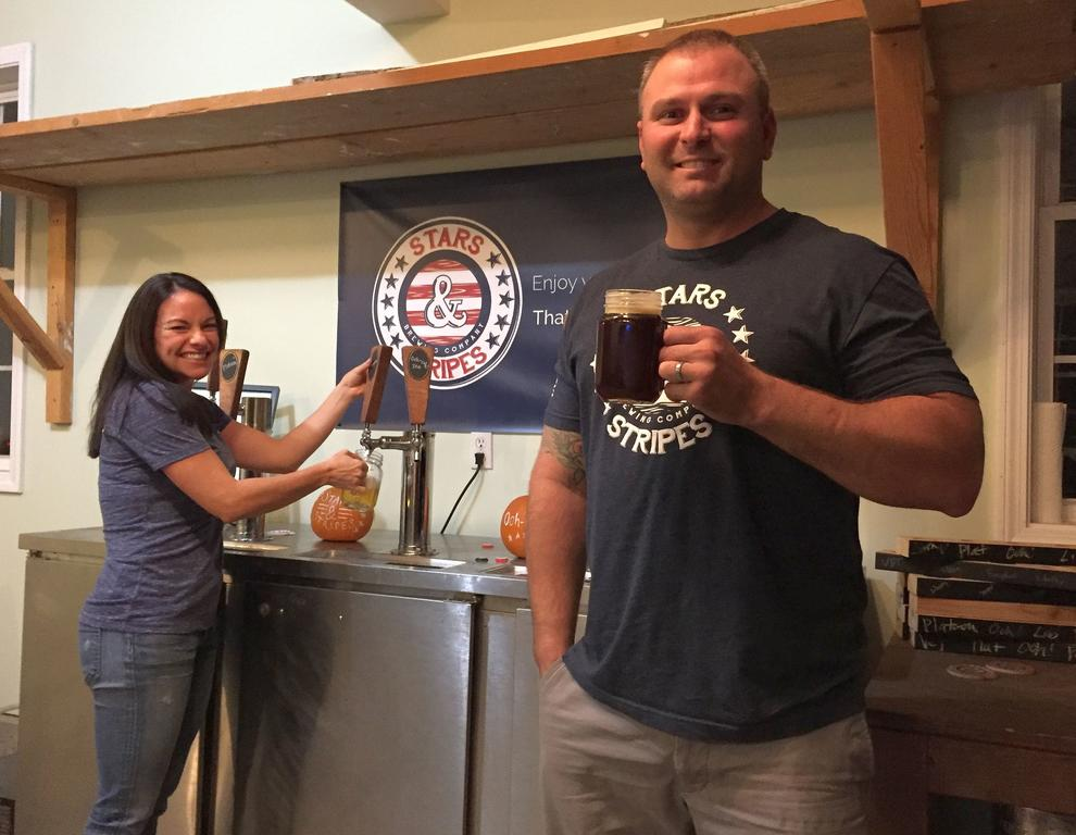 Nancy and Brad Nadeau of Cumberland are looking to expand their home-based Stars & Stripes Brewing Co. to a full-fledged commercial operation, with a percentage of proceeds going toward veterans.